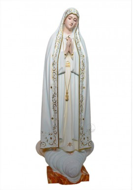 Our Lady of Fatima, in Wood 105cm