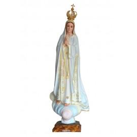 Nuestra Señora de Fátima, Pintura al Óleo y Oro Fino 83cm