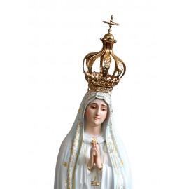 Corona de Plata Dorada para Nuestra Señora de Fátima Capelinha 105cm