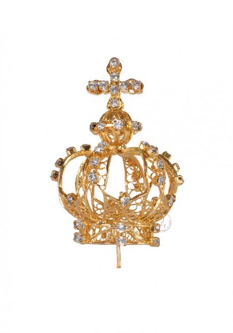Coroa para Nossa Senhora de Fátima 80cm a 100cm, Filigrana (Rica)