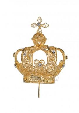 Coroa para Nossa Senhora de Fátima 60cm a 70cm, Filigrana