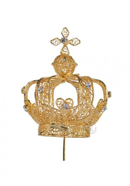 Coroa para Nossa Senhora de Fátima 60cm a 73cm, Filigrana